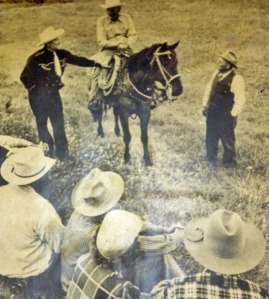 My Grandpa Lute and relatives work a cattle roundup (Northeastern Montana, 1951)