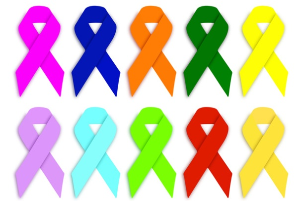 Sadly, each ribbon color represents a different cancer – and these are just a few <br>Photo credit: Public domain</br>