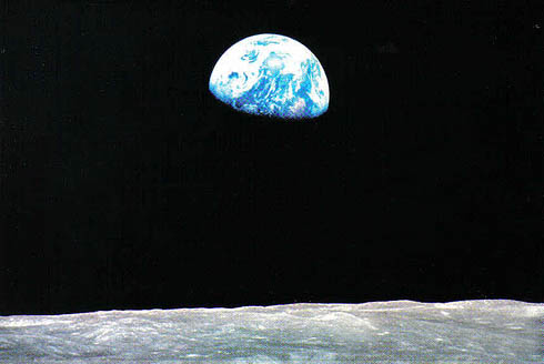 Earth, from the moon. (Photo: NASA, free use)