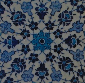 Turkish tiles in Turkish baths.
