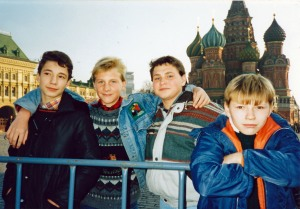 A country's hope, and future: Russian kids in Red Square. Moscow, Russia