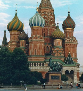 Saint Basil's in Red Square (Moscow, Russia--1993)