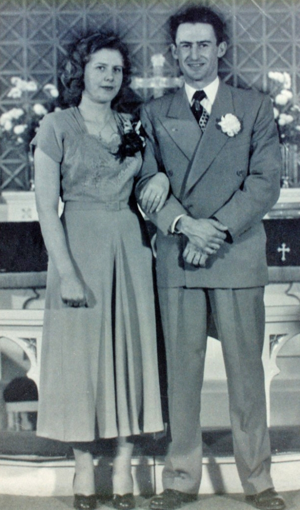 My parents' wedding day – she 21, he 25 – on December 23, 1950 in Glasgow, Montana