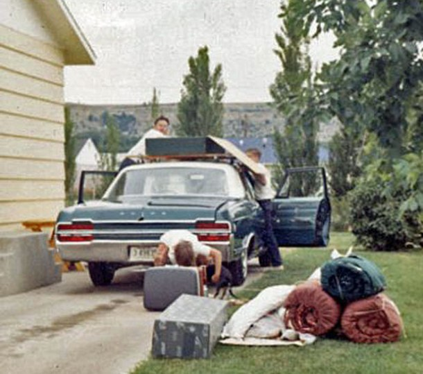 Our family packs the Buick for another road trip in Montana <br>Photo credit: Holter Family Collection</br>