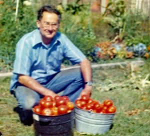 My dad's daily summertime haul from our backyard <br>Photo credit: Holter Family Collection</br>