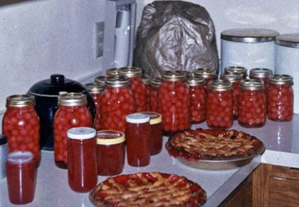 Harvest time: my mom's canned cherries, jams, piesPhoto credit: Holter Family Collection