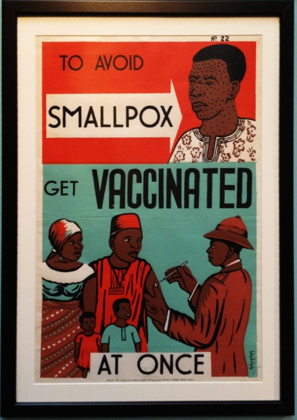 Popular smallpox poster used in health campaigns Photo credit: Center for Disease Control