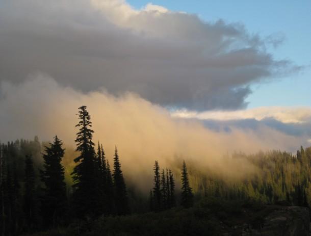 Almost heaven. At Paradise on Mount Rainier, sunset. (September 8, 2013)