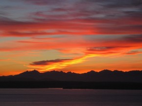 Seattle sunset, October's tantrums
