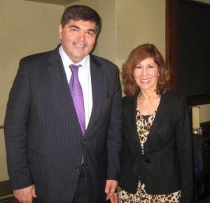 Uzbekistan's new ambassador and Helen Holter.