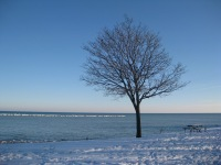 No visit to Racine, Wisconsin is complete without multiple walks along Lake Michigan – regardless of the bitter wind chill!