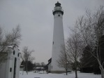 My oh-so-favorite Wind Point Lighthouse, on the shores of Lake Michigan in Racine, Wisconsin.