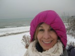 B-r-r-r! In every season, I gravitate to Lake Michigan's shores – here at the Wind Point Lighthouse.